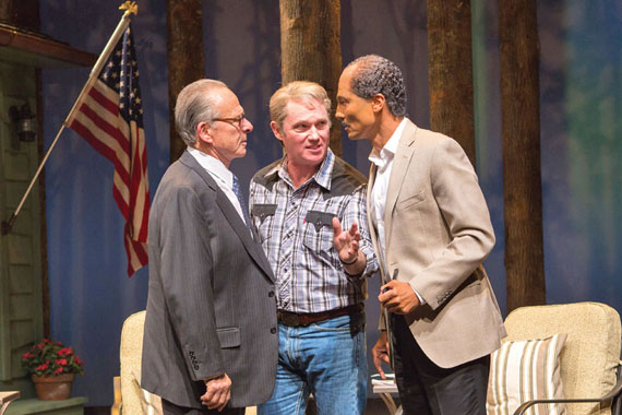 Camp David: (L to R) Khaled Nabawy as Anwar Sadat, Richard Thomas as Jimmy Carter and Ron Rifkin as Menachem Begin Photo by Teresa Wood