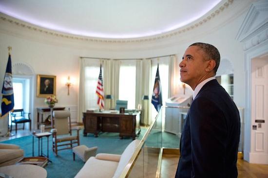 Obama LBJ oval